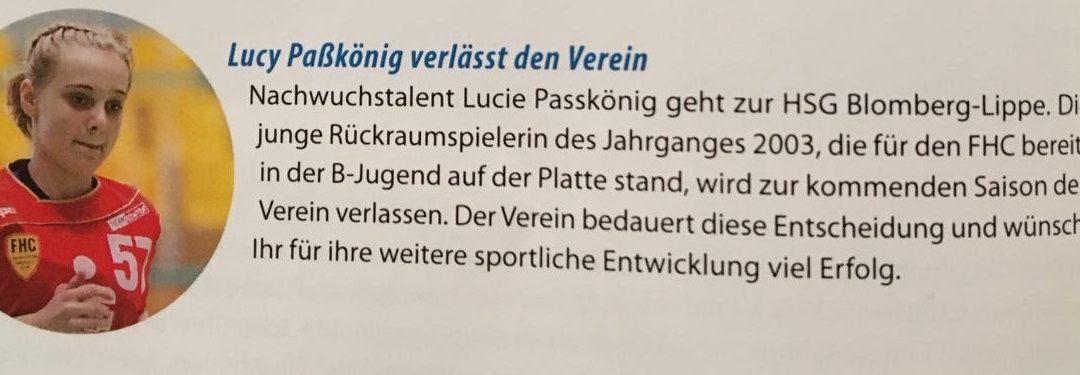 Wechsel zur neuen Saison zur HSG Blomberg/Lippe