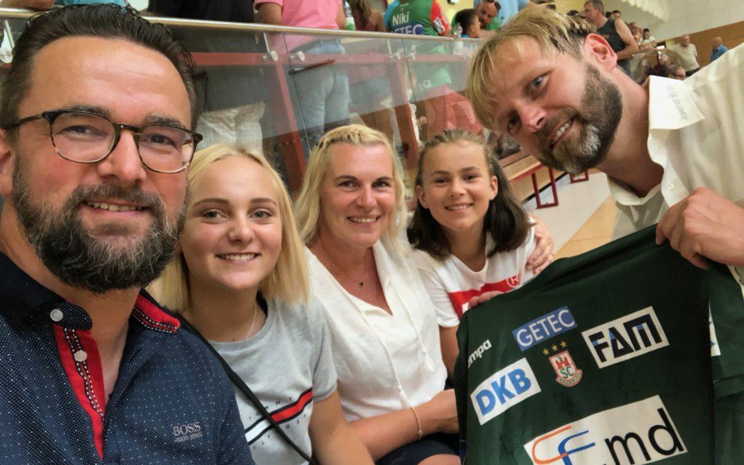 Abendessen mit den Handballern des SC Magdeburg